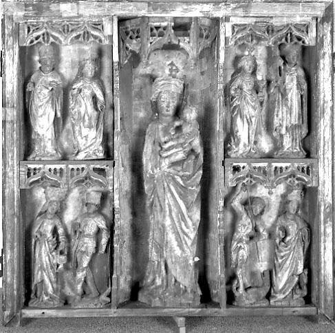 Mittelteil des Flügelaltars in der Schlosskirche